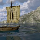 Restitution d'un bateau romain