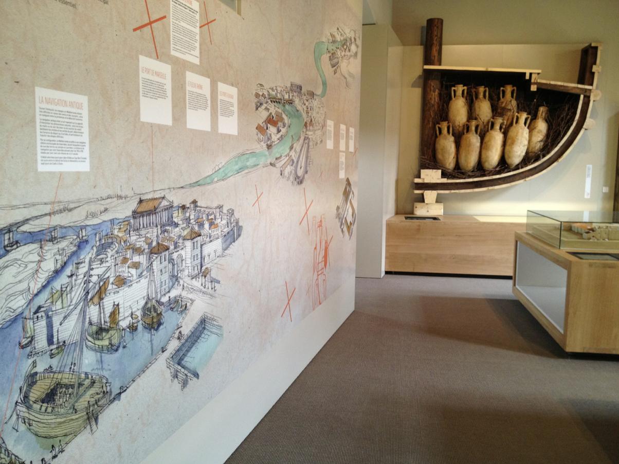 La route du vin dans l'antiquité.