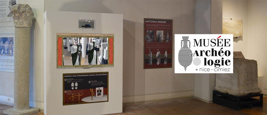 Dispositif d'habillage virtuel romain pour le musée archéologique de Nice