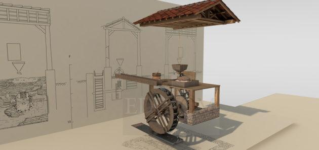 Un moulin hydraulique romain